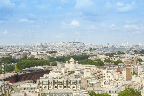 Foto op Aluminium Parijs Panorama di Parigi vista dalla cima della Torre Eiffel