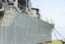 Outside View Of The War Ship W...