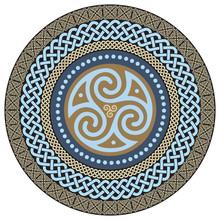 Round Celtic Design. Ancient C...