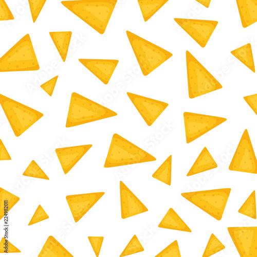Pinturas sobre lienzo  delicious mexican nachos pattern