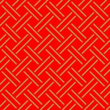 Japanese Red Weaving Pattern