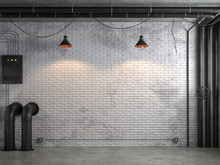 Industrial Loft Style Empty Ro...