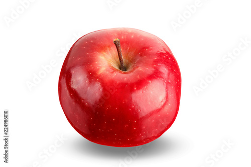 Fotografía  red apple on a white background