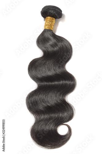 Photo Body wavy black human hair weaves extensions bundle