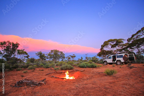 fototapeta na ścianę Evening fire in Australian outback