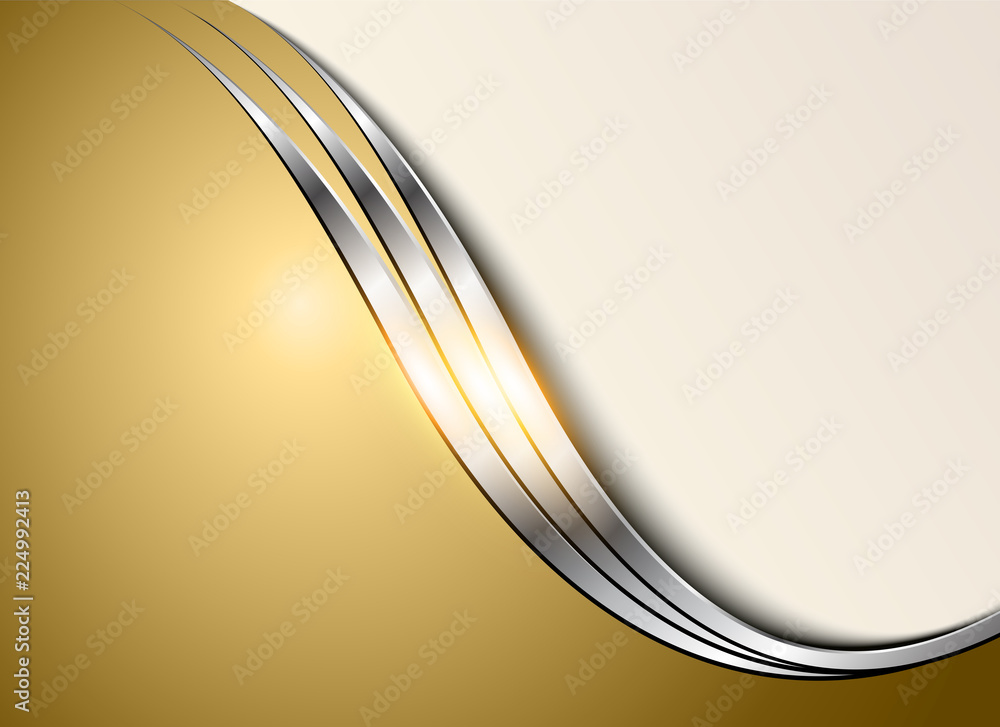 Business background silver gold