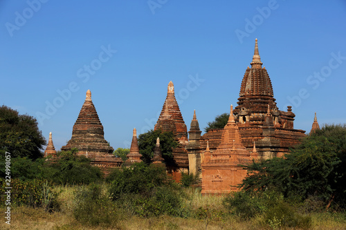 Old ancient bagan temple in Myanmar. The landmark tourism culture in Asian.