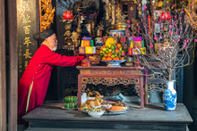 Old Vietnamese Man Preparing A...