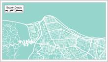 Saint Denis Reunion City Map I...