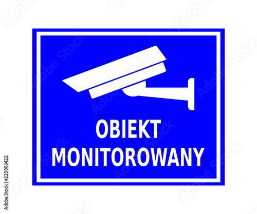 obiekt monitorowany Obraz na płótnie