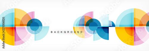 Foto Vector fantastic circle modern geometric background template