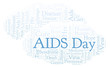 AIDS Day word cloud, made with text only.