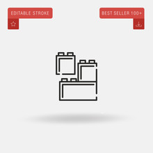 Outline Lego Icon Isolated On ...