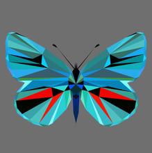 Butterfly Polygonal Low Poly I...