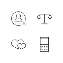Business Simple Outlined Icons...