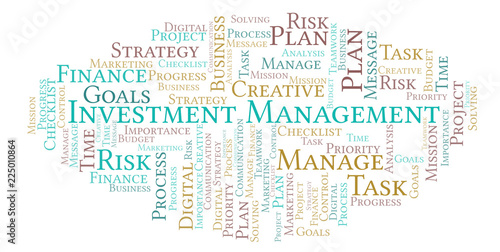 Investment Management word cloud, made with text only  - Buy