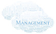 Management word cloud, made with text only.