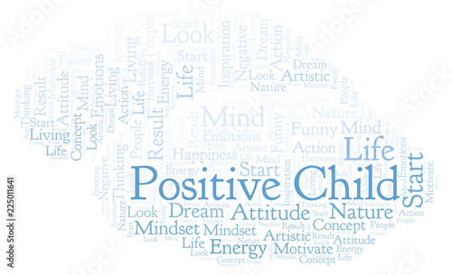 Staande foto Positive Typography Positive Child word cloud, made with text only.
