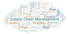 Supply Chain Management Word Cloud, Made With Text Only.