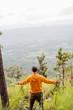 man feel relax in mountain