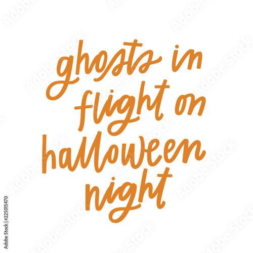 Photo  Ghosts in flight on Halloween night