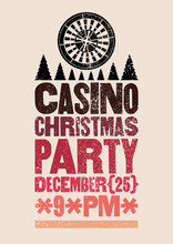 Casino Christmas Party Typogra...