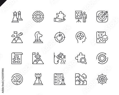 Fotografía Simple Set of Business Strategy Related Vector Line Icons