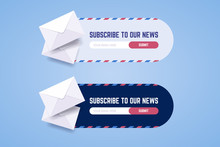 Subscribe To Newsletter Form For Web And Mobile Applications In