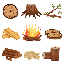 Firewood Elements Set