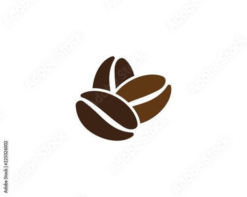 Leinwand Poster vector coffee beans icon