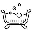 jaccuzi line icon vector illustration