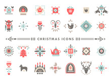 Vector Set Of Colorful Christm...