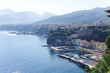 Marina grande beach and pier panoramic view, Sorrento, Campania,