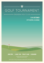 Retro Style Golf Club Poster. ...