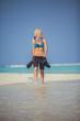Snorkel woman on Maldives