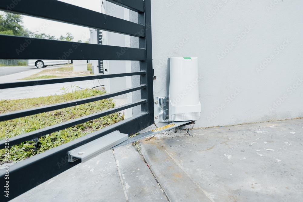 Fototapeta automatic door gate with motor