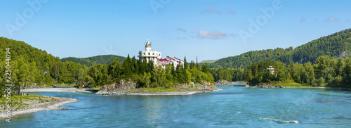 Panoramic view from the old Aisk  bridge Canvas Print