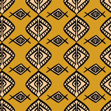 African Pattern Vector With Ha...