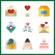 love icon. potion and love letter vector icons in love set. Use this illustration for love works.