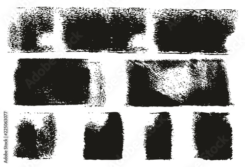 Fotografía  Paint Roller Lines High Detail Abstract Vector Lines & Background Set 130