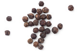 Top view of dried macro black pepper