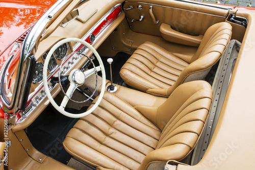 Cadres-photo bureau Vintage voitures Oldtimer Innenausstattung 2