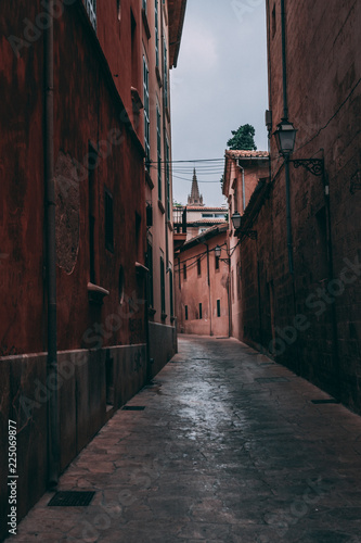 Narrow street of Palma de Mallorca, 2018