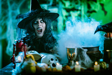 Witch Is Cooking Magic Potion