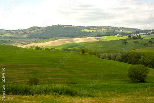 Poster Hill Landscape of tuscan countryside