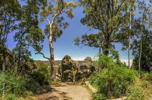 Foto op Plexiglas Oceanië Hanging rock-a mystical place in Australia, Victoria