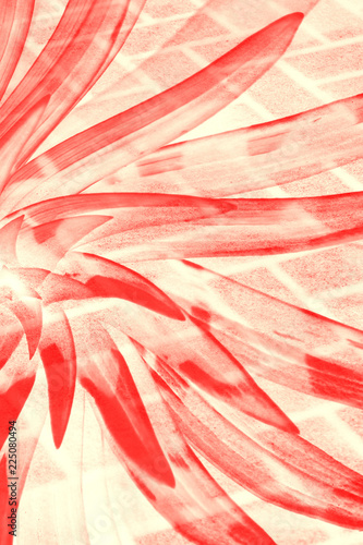 Fototapety, obrazy: A hallucinogenic red transparent flower on a tile background.
