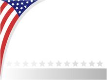 USA Abstract Flag Border With ...