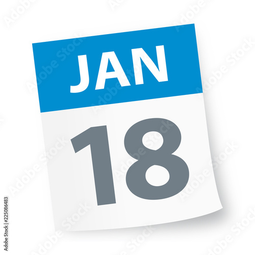 Photographie  January 18 - Calendar Icon