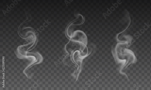 Garden Poster Smoke Vector set of realistic transparent smoke effects